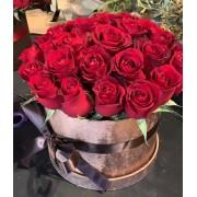 Caixa com Rosas Vermelhas Grande