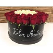 Caixa de Rosa Aniversário
