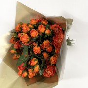 Bouquet MIni Rosas Laranja - Artificial