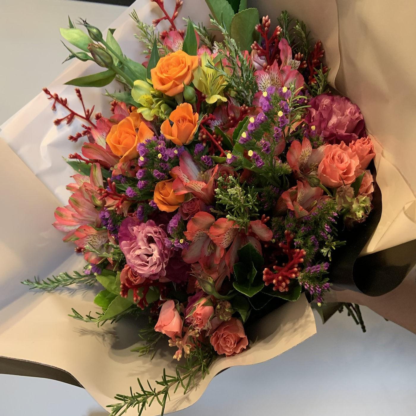 Bouquet Misto Laranja e Rosa