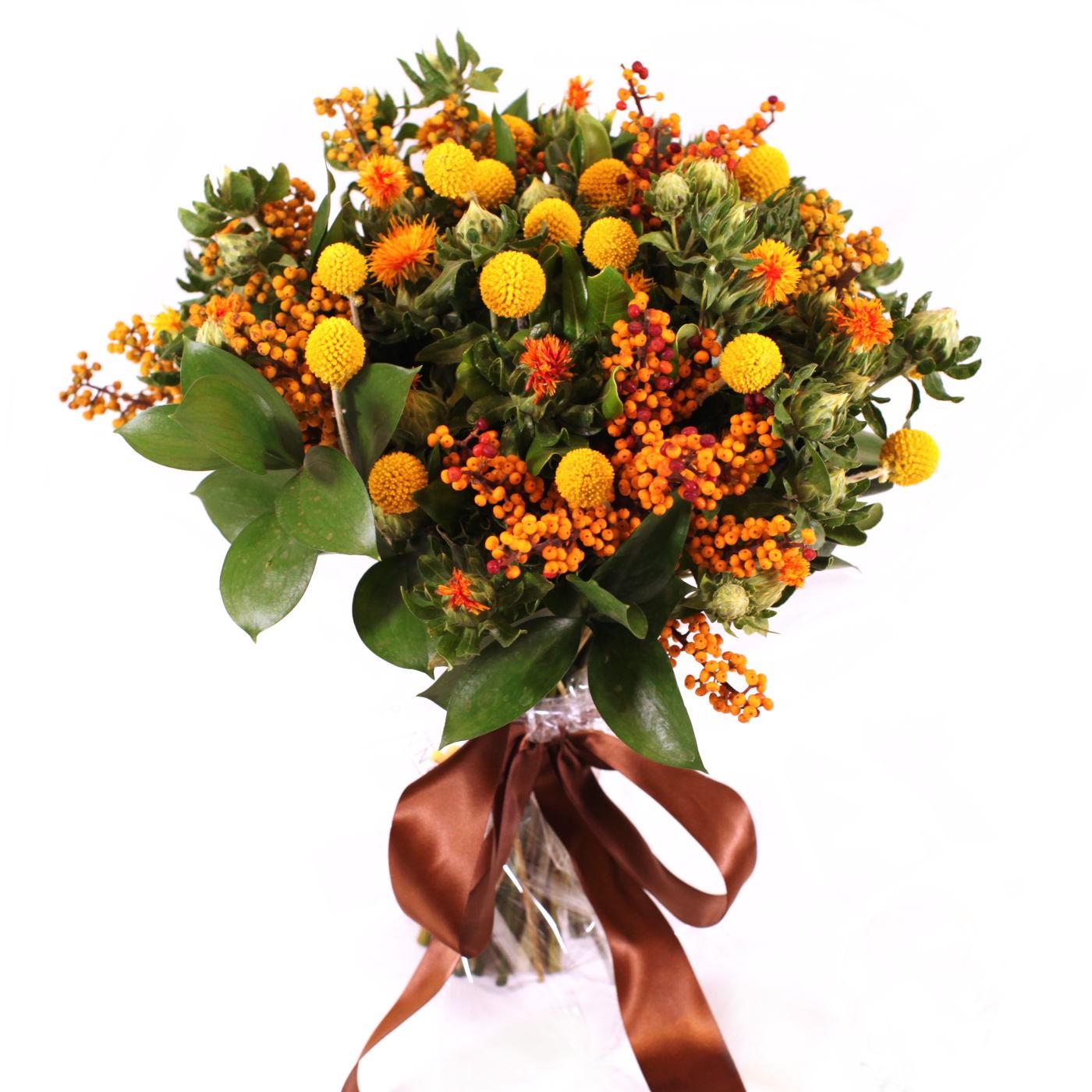Bouquet Amarelo com Flores Exoticas