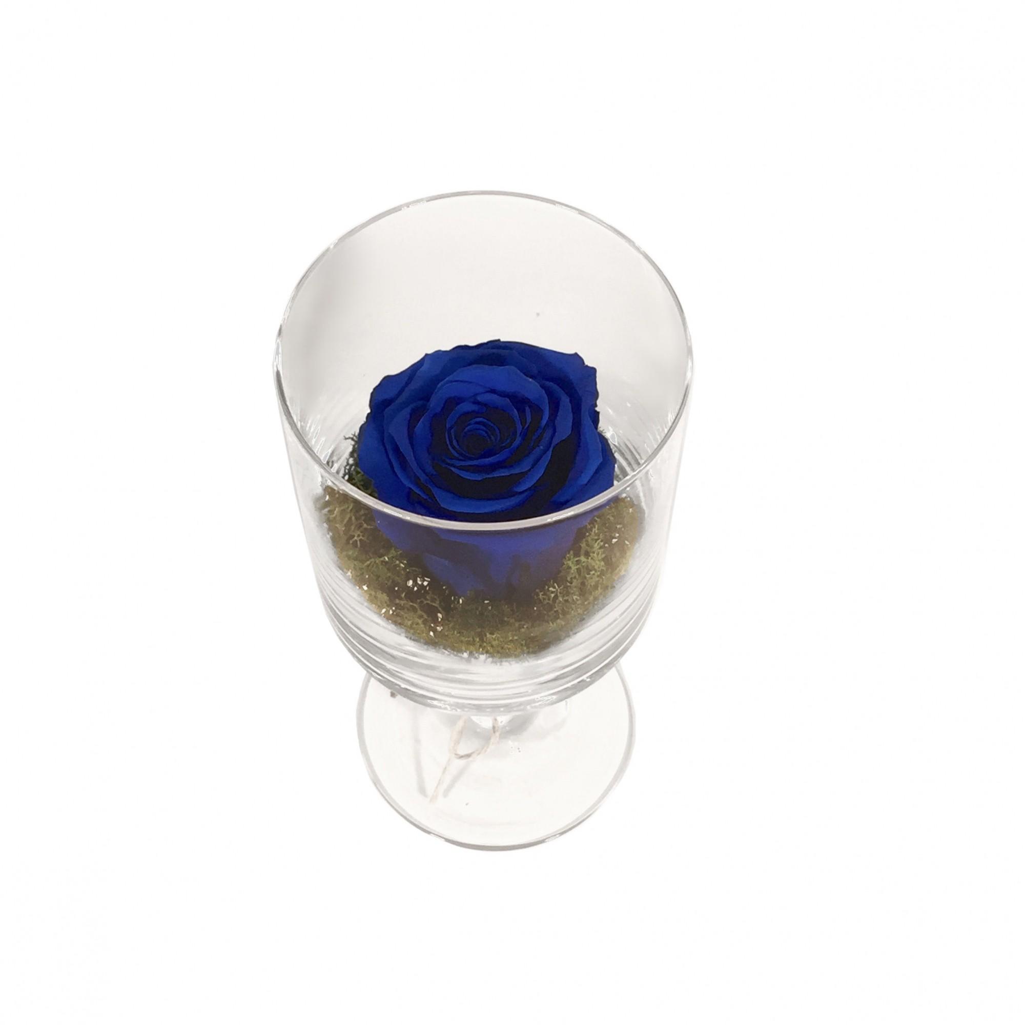 Copo e Rosa Preservada