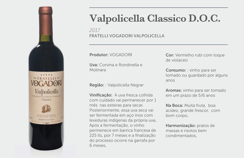 Kit Vinho Valpolicella Clássico Vogadori