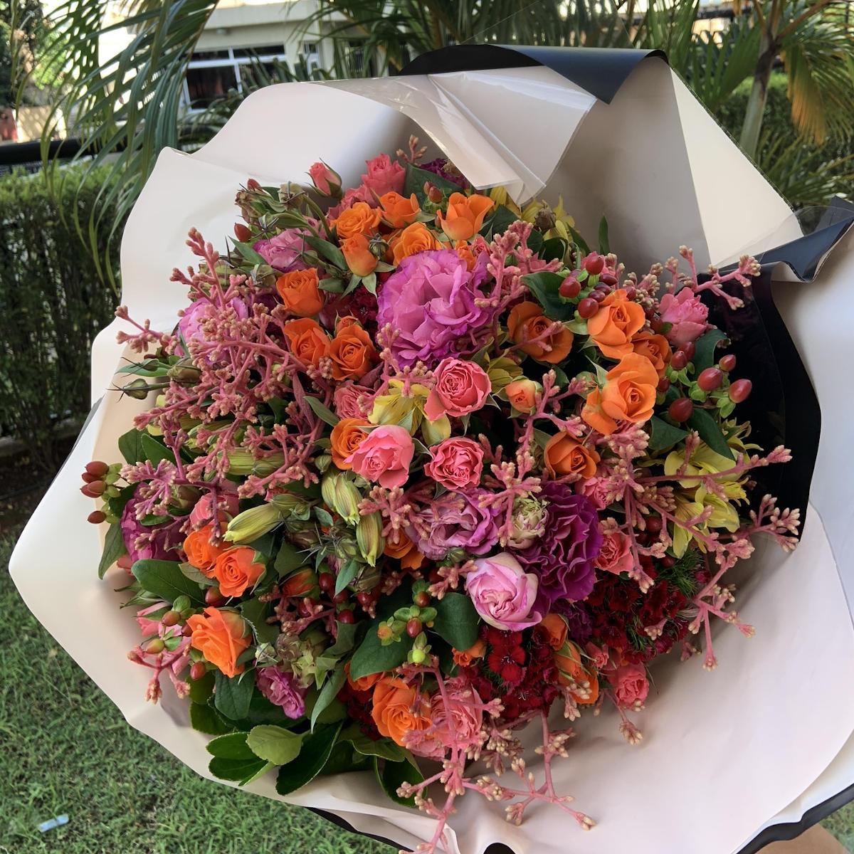 Bouquet Mix Rosa e Laranja