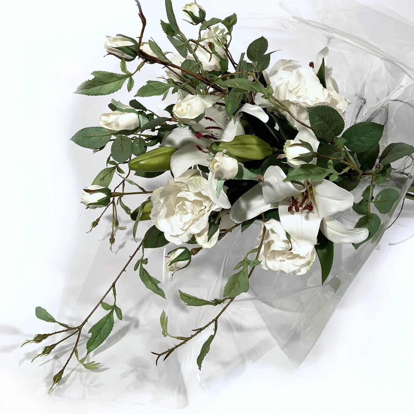Bouquet Lirios e Rosas Brancas - Artificial