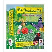 Os Jardinautas Vol. 1 - Joaninha, besouro e borboleta Livro interativo – Conjunto de caixa,