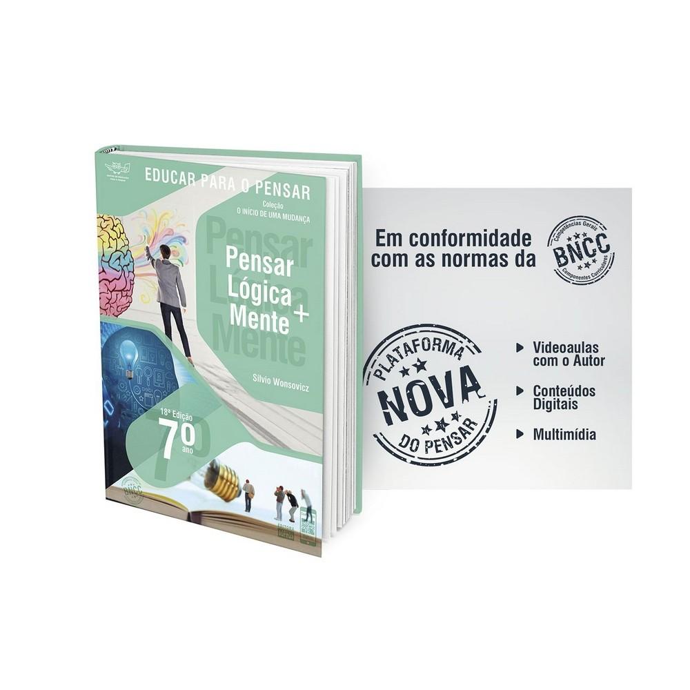 7º ANO - Pensar Lógica+Mente: Investigação sobre a Lógica, o Conhecimento e a Linguagem - 18ª Edição  - Book Distribuidora de Livros