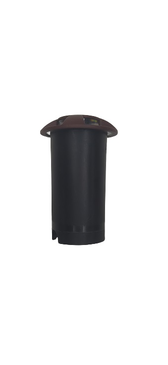 Balizador de Embutir 4 fachos LED 0,75W Bivolt 2700K IP65 3923-S-MC INTERLIGHT