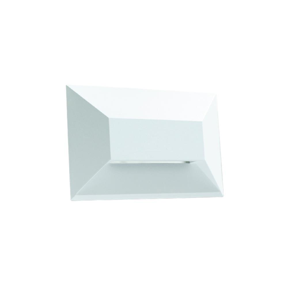 Balizador de Embutir LED 1W Bivolt Onix Retangular Horizontal LA-207 Led Art