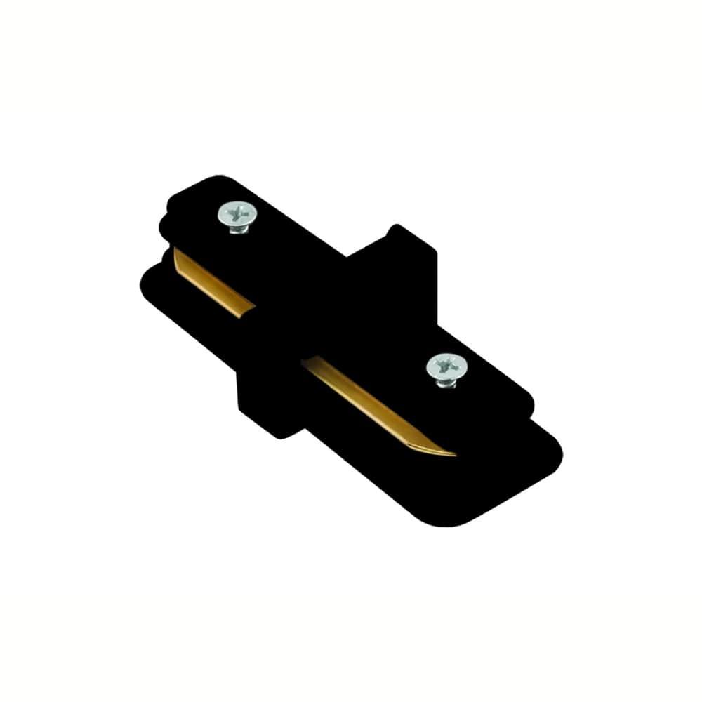 Conector I Para Trilho de Sobrepor Energizado Preto SD1043PTO Stella Design