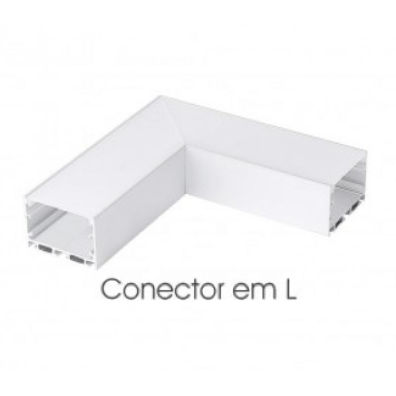 Conector L Para Perfil De Sobrepor Ekpf62Cl - Eklart