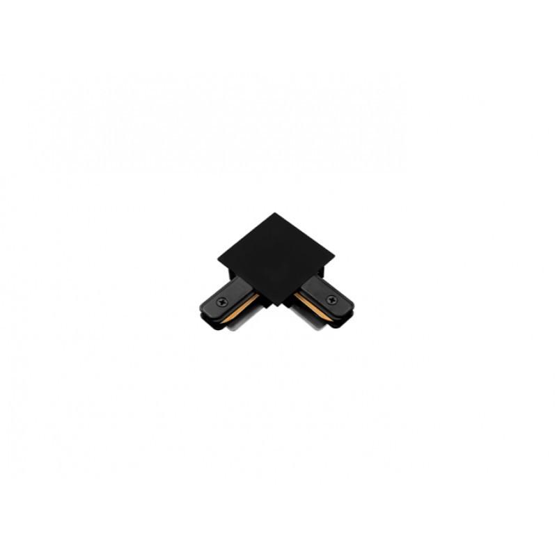 Conector L Para Trilho de Embutir Energizado Preto SD1206PTO - Stella Design