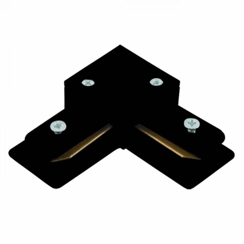 Conector L Para Trilho de Sobrepor Energizado Preto SD1044PTO Stella Design