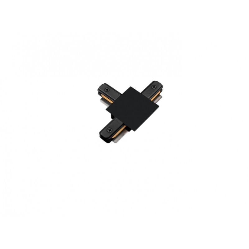 Conector T Para Trilho de Embutir Energizado Preto SD1207PTO - Stella Design