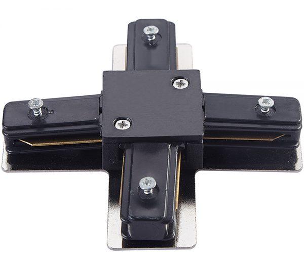 Conector X Para Trilho de Sobrepor Preto 438831  Brilia
