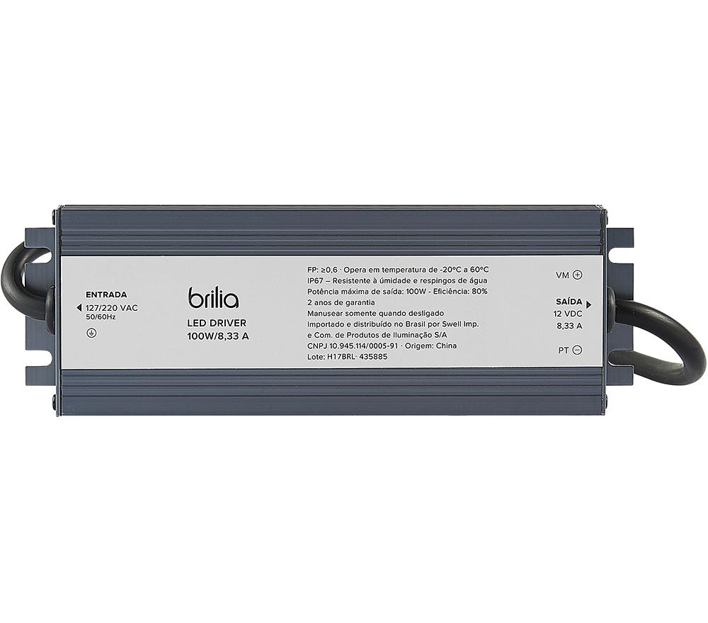 Driver Blindado 12V 100W 8,3A IP67 435885  Brilia