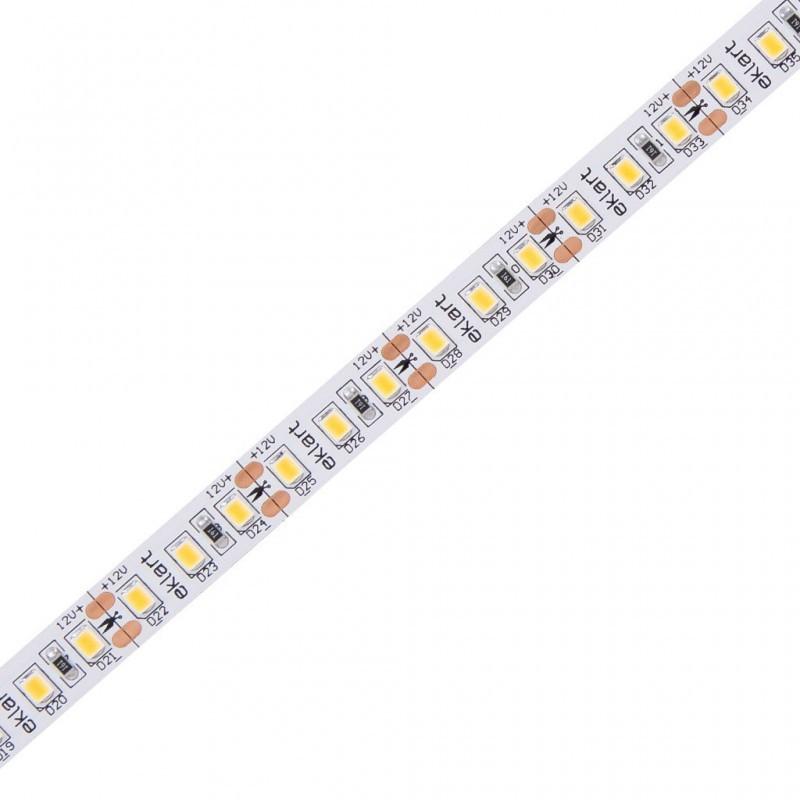 Fita de LED 10W/m 2700K 12V IP65 SMD2835 120L IRC80 5mts EKF4196165 Eklart