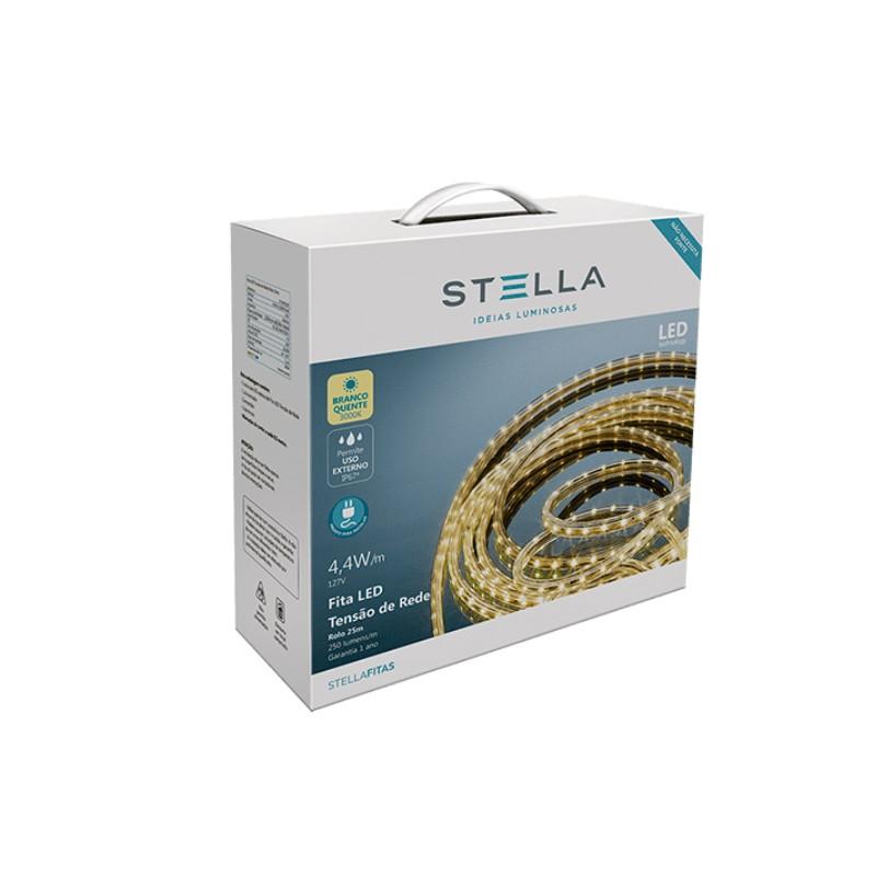 Fita de LED 10W/m 3000K 127V IP67 25mts STH7831/30 Stella Design