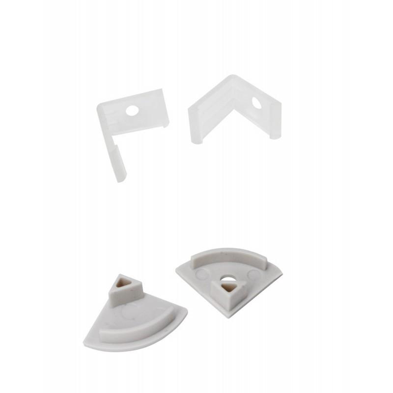 Kit 2 Tampas + 2 Presilhas Para Perfil EKPF32C Eklart