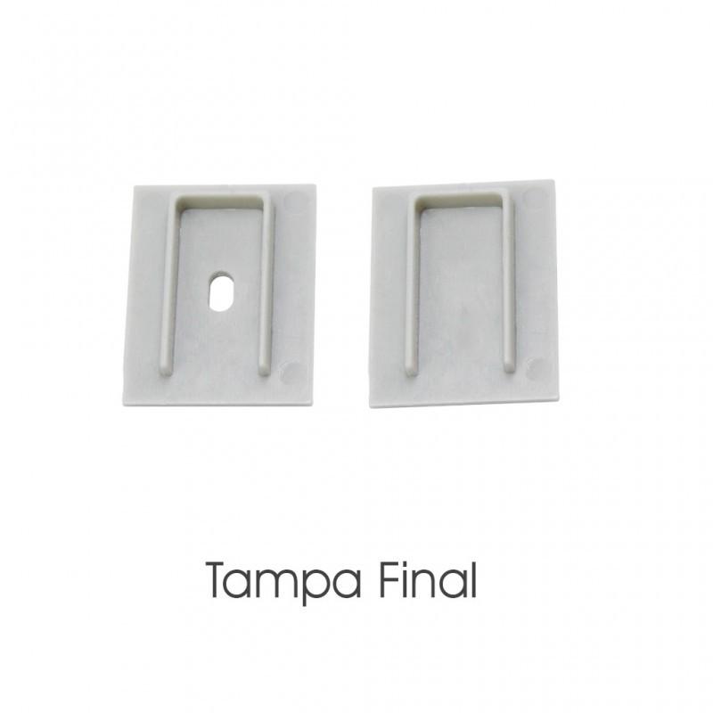 Kit 2 Tampas Para Perfil EKPF41 EKPF41C Eklart