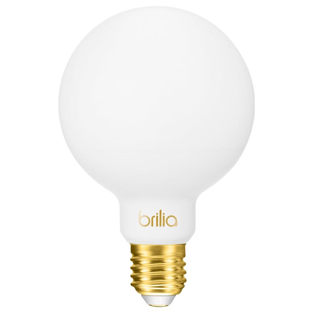 Lâmpada filamento LED Milky G95 5W Âmbar 301177 Brilia