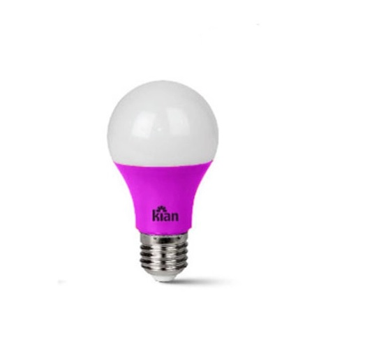 Lâmpada LED A60 Rosa 7W E-27 Bivolt 10661  Kian