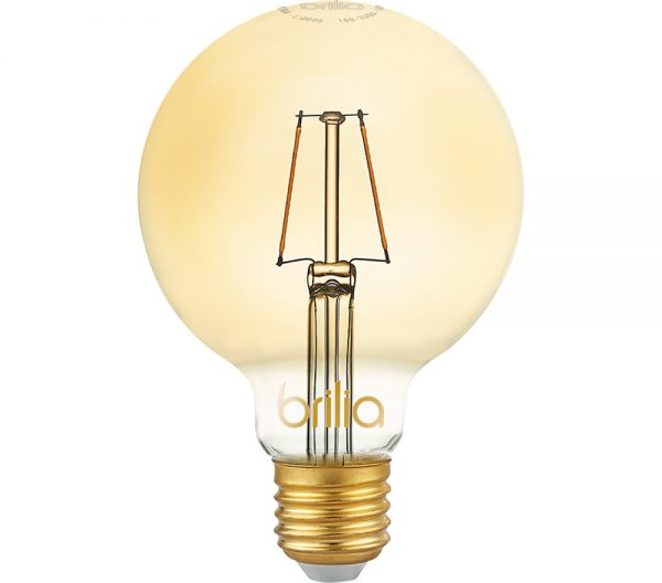 Lâmpada LED Bulbo Balloon G125 Filamento Vintage 2,5W 2000K E-27 Bivolt 438725 Brilia