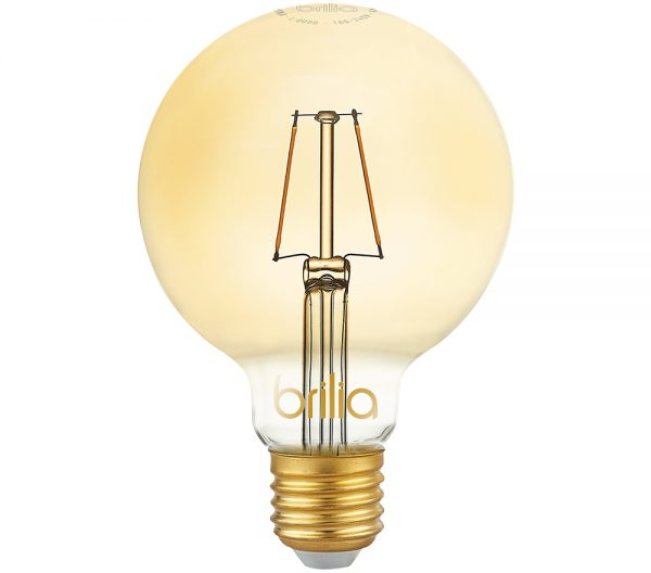 Lâmpada LED Bulbo Balloon G95 Filamento Vintage 2,5W 2000K E-27 Bivolt 438633 Brilia