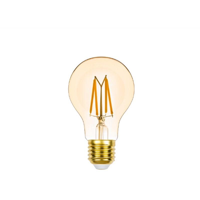 Lâmpada LED Bulbo Filamento 4,5W Âmbar E-27 220V Dimerizável STH8262/24 STELLA