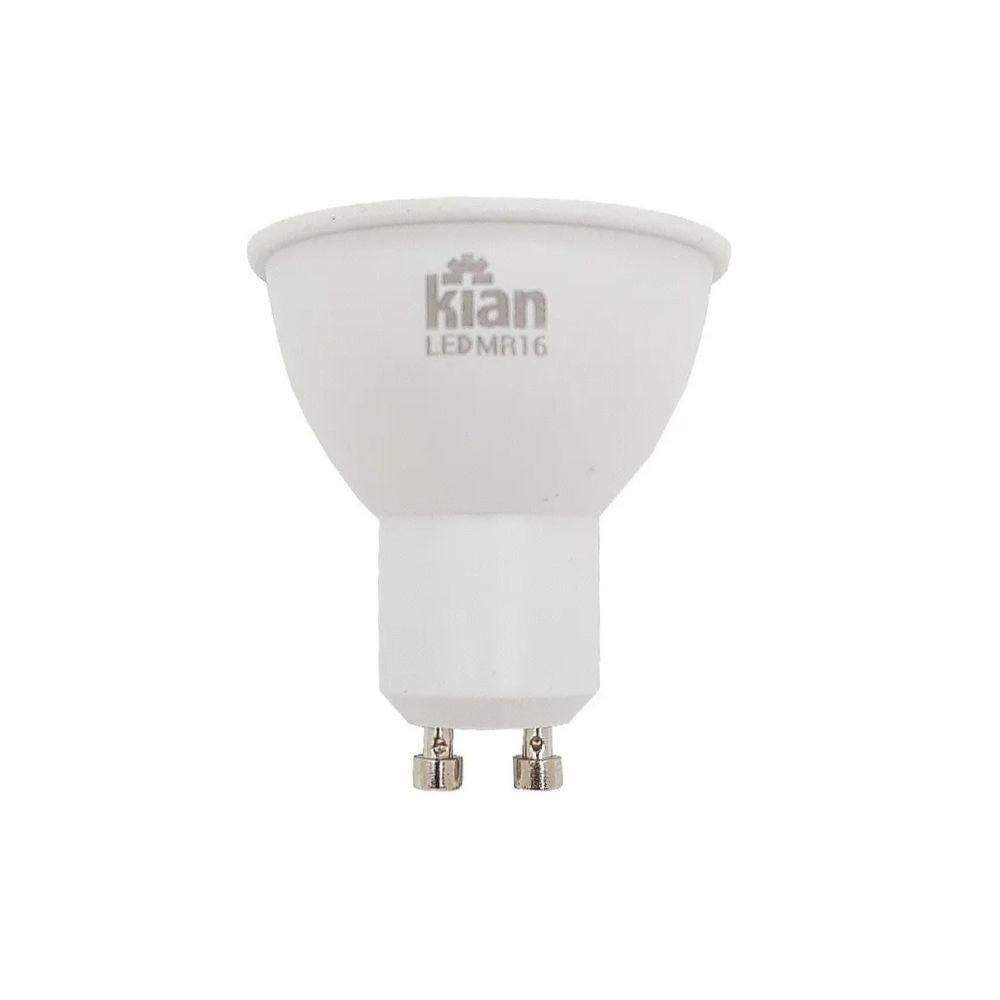 Lâmpada LED Dicróica 6W GU10 3000k Bivolt 11296  Kian