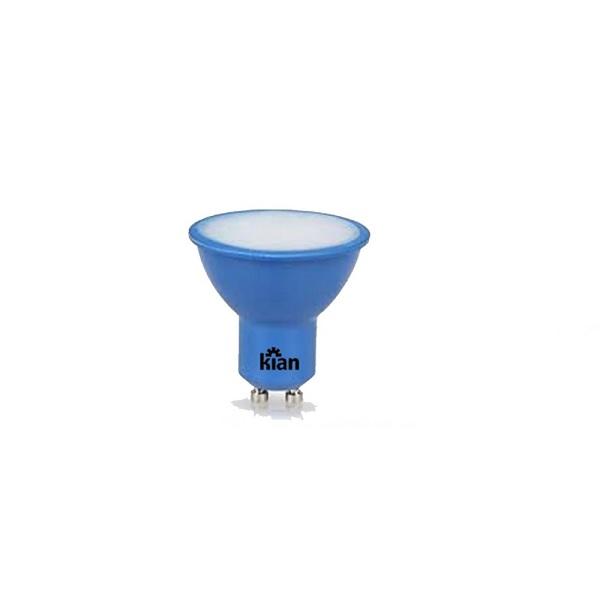 Lâmpada LED Dicróica Azul 4W GU10 Bivolt 10653  Kian