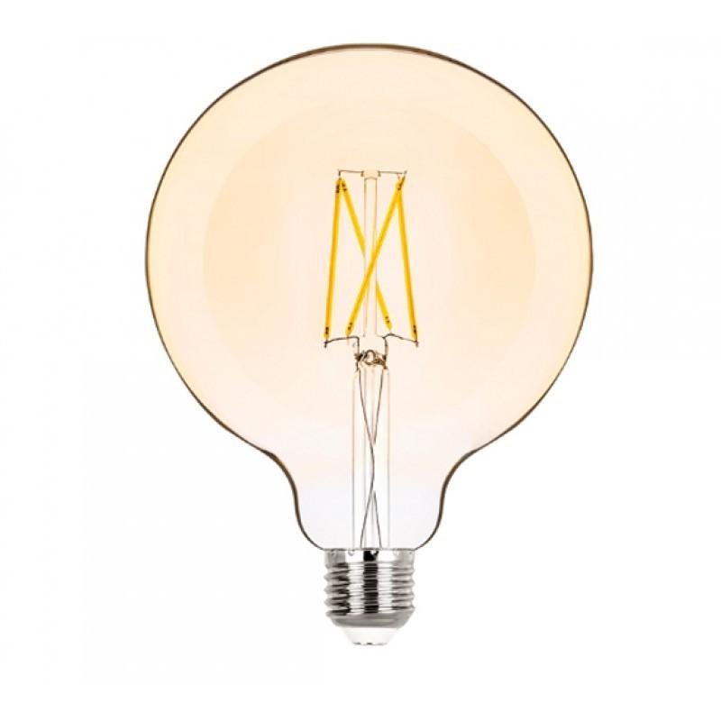 Lâmpada LED G125 Filamento 2W Âmbar E-27 Bivolt STH6337/24 STELLA