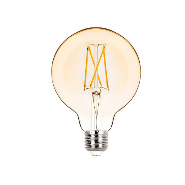 Lâmpada LED G95 Filamento 2W Âmbar E-27 Bivolt STH6336/24 STELLA