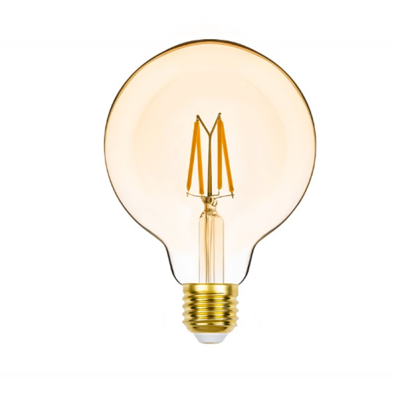 Lâmpada LED G95 Filamento 4,5W Âmbar E-27 127V Dimerizável STH8281/24 STELLA