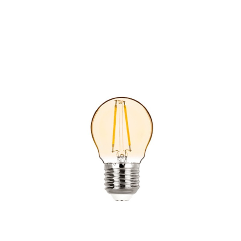 Lâmpada LED Mini Bulbo Filamento 2W Âmbar E-27 Bivolt STH6334/24 STELLA