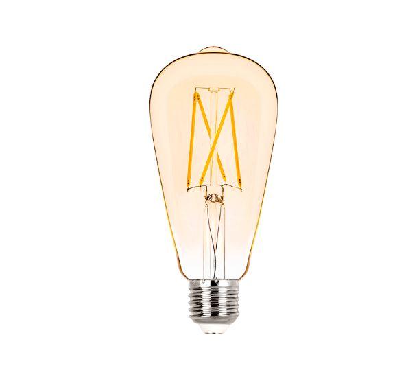 Lâmpada LED ST64 Filamento 2W Âmbar E-27 Bivolt STH6338/24 STELLA