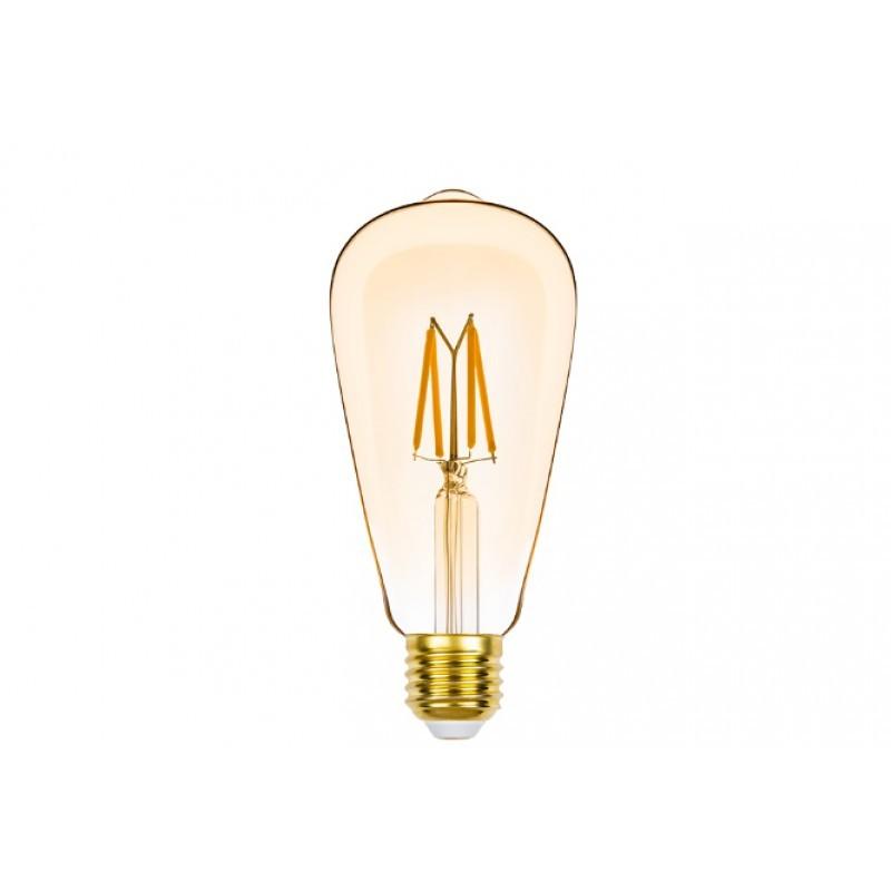 Lâmpada LED ST64 Filamento 4,5W Âmbar E-27 220V Dimerizável STH8272/24 STELLA