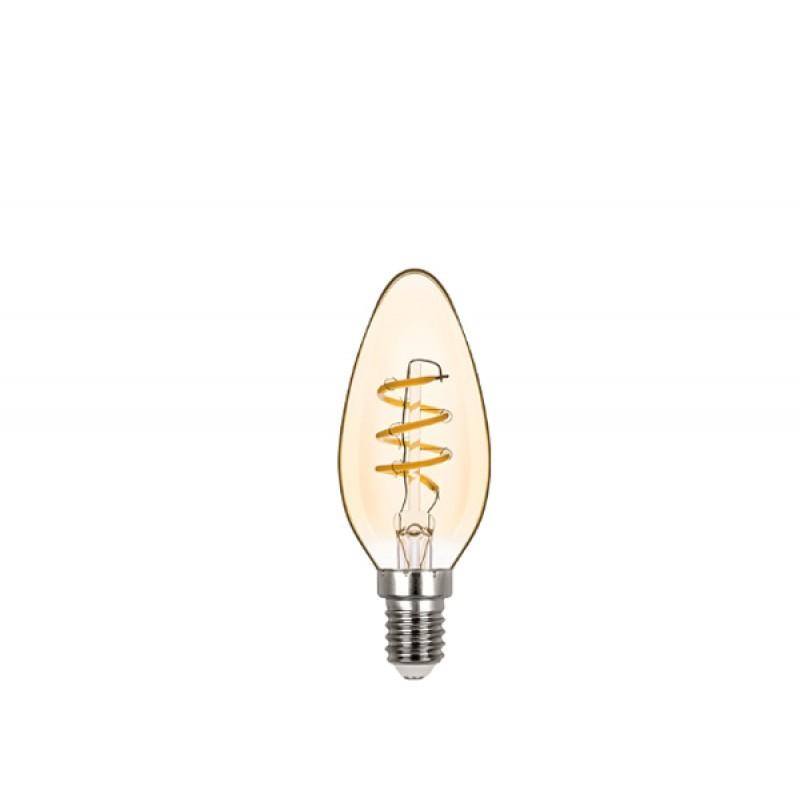 Lâmpada LED Vela Lisa Filamento 2,5W Âmbar E-14 220V STH8382/24 STELLA