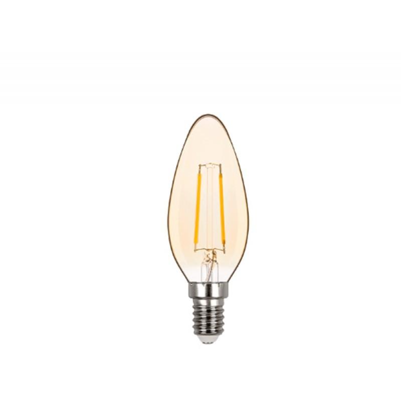 Lâmpada LED Vela Lisa Filamento 2W Âmbar E-14 220V STH6322/24 STELLA