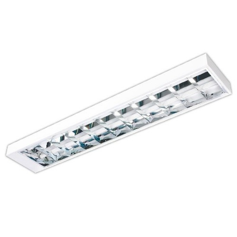 Luminária de Sobrepor C/ Aleta K236S 2xT8 32/36/40W 7791 - Kian