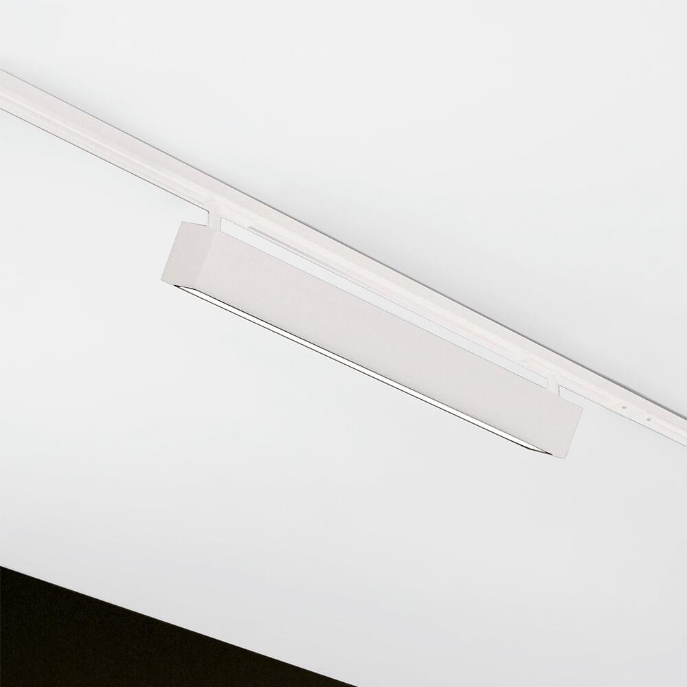 Luminária De Sobrepor Retangular C120Cm P/ Trilho C/ Plug Branco Led 30W 4000K Bivolt 461Abled4 Newline