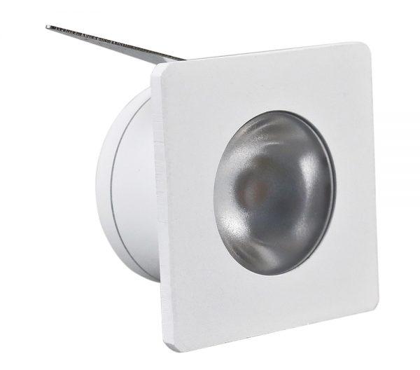 Spot de Embutir Quadrado LED 1W 2700K Bivolt 432914  Brilia