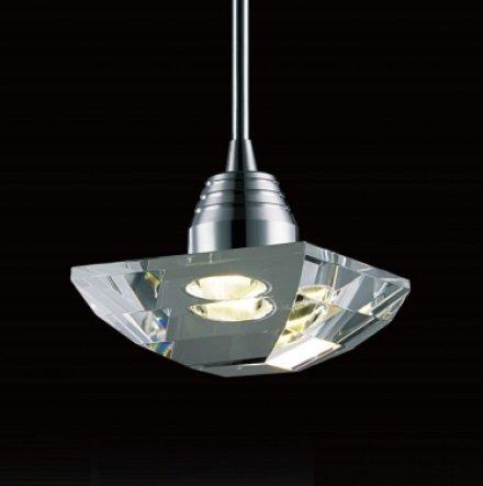 Pendente de Aço em Cristal ø14cm LED 3W 3000k PE-006/1.12 Mais Luz