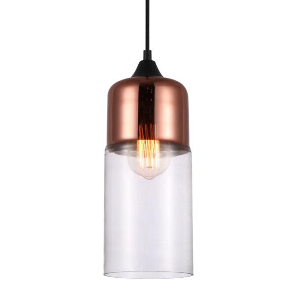 Pendente de Vidro Bronze / Translúcido Ø13cm 1x E-27 PE-046/1.13BRO Mais Luz