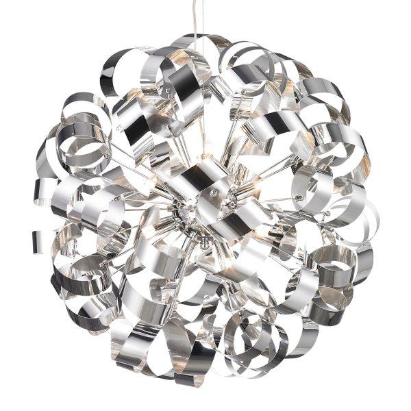 Pendente em Aço Cromado D60cm 12x G9 PE-033/12.60C Mais Luz