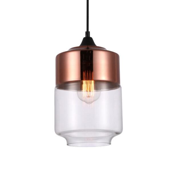 Pendente em Vidro Bronze Translúcido Ø18cm 1x E-27 PE-044/1.18BRO  Mais Luz