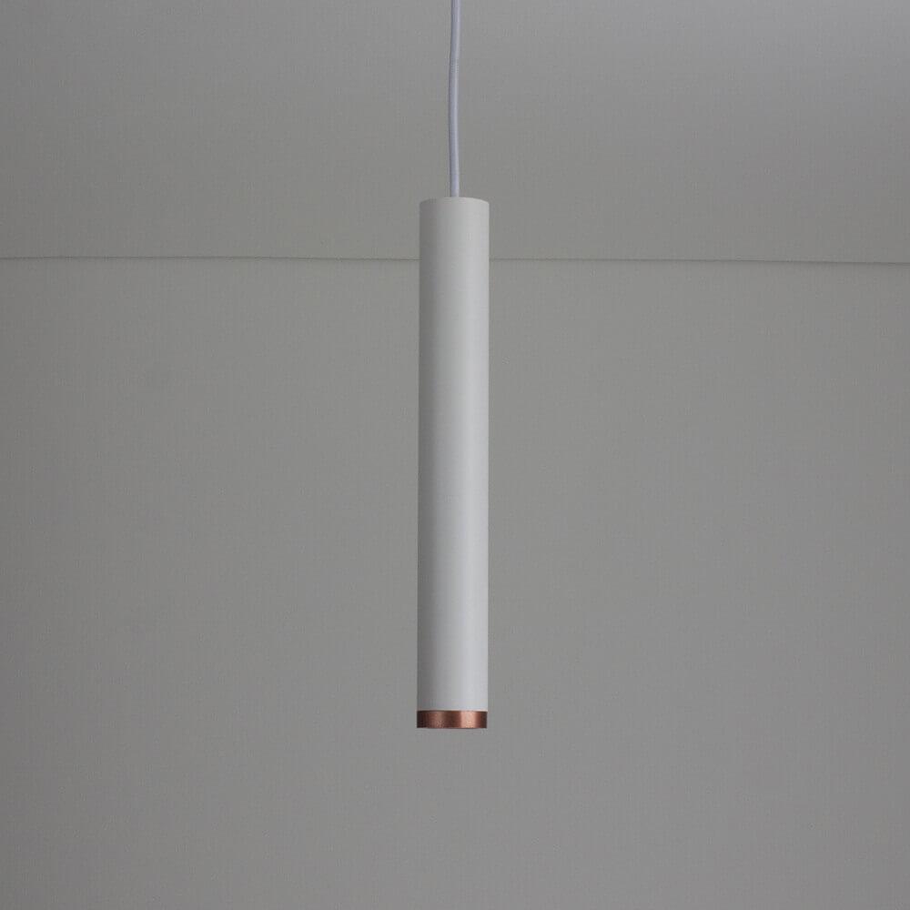 Pendente para Trilho em Alumínio C/ Plug Branco e 5 Mts de Cabo Lisse II A31cm 1x Mini Dicróica 420XAB  Newline