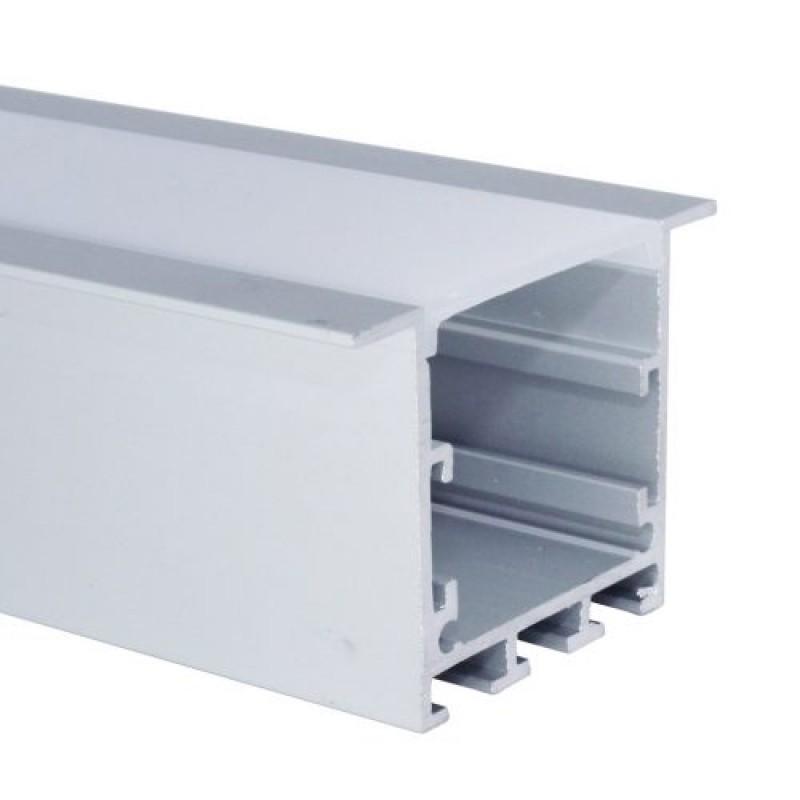 Perfil de Embutir Para Fita LED 50x35x2000mm EKPF51 Eklart
