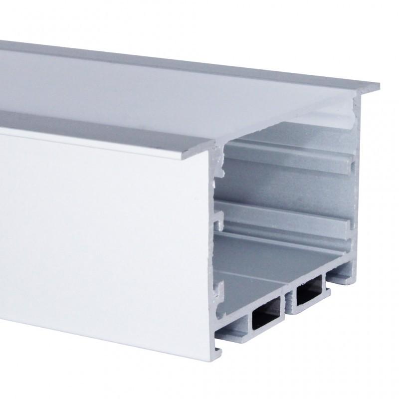 Perfil de Embutir Para Fita LED 65x35x2000mm EKPF52 Eklart