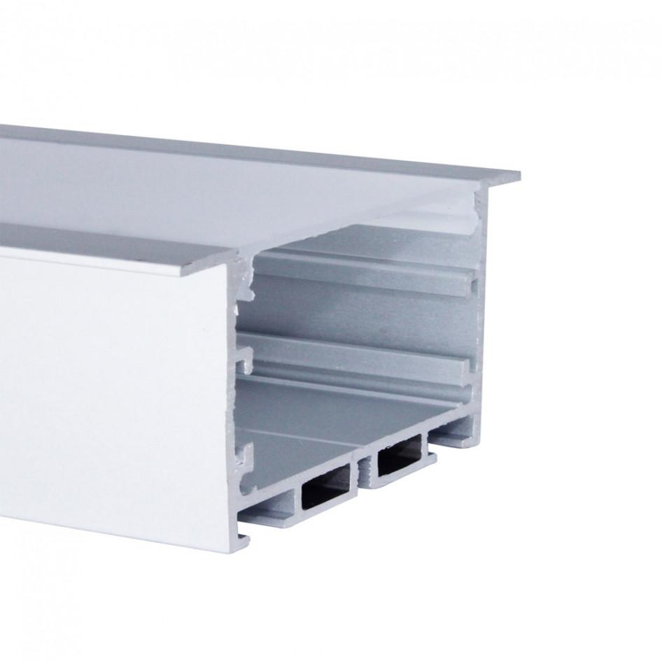 Perfil de Embutir 3 Metros Para Fita LED Com Difusor Leitoso EKPF53-3 Eklart